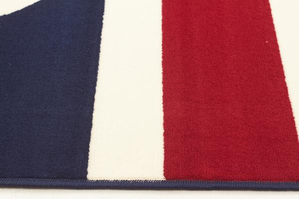 Funky Union Jack Rug Blue Red White 280x190cm