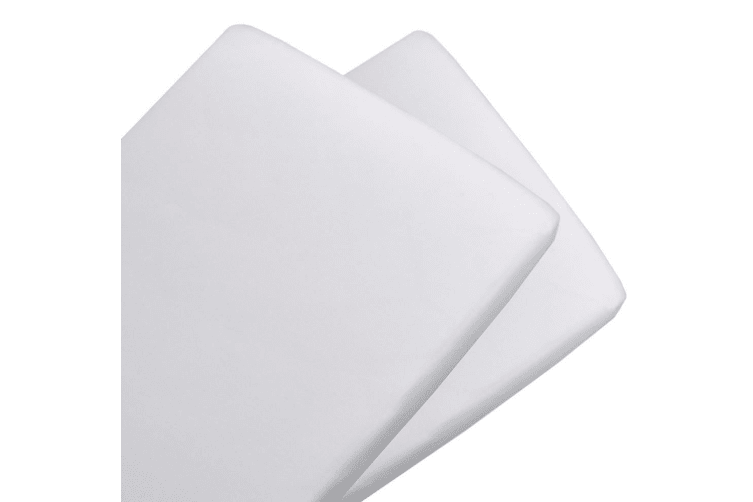 Living Textiles 2-pack Jersey Cradle Fitted Sheet White