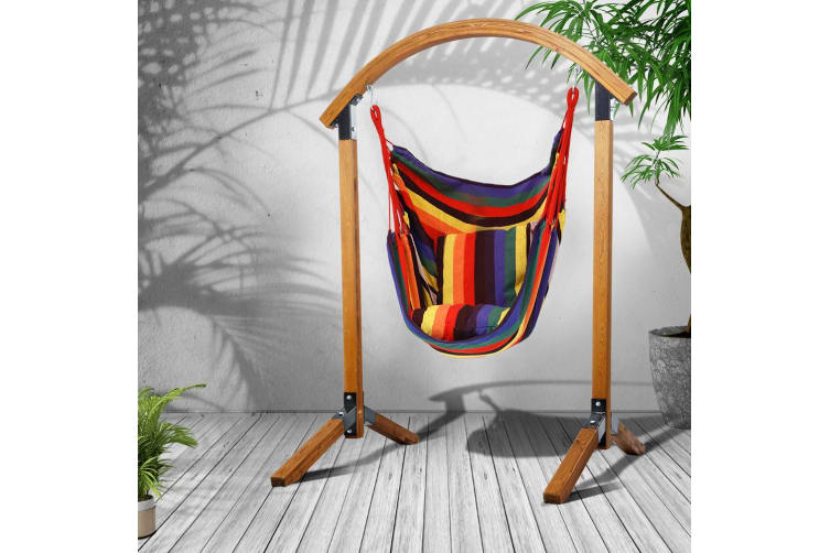Outdoor Swing Chair Timber Hammock Patio Wooden Seat Furniture