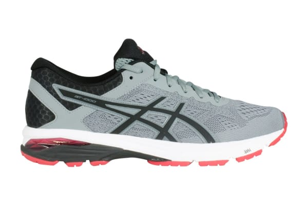 be03e1a99a60 ASICS Men s GT-1000 6 Running Shoe (Stone Grey Black Red