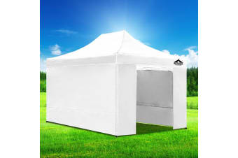 Pop Up Gazebo 3x4.5m Outdoor Tent Folding Wedding Marquee Gazebos