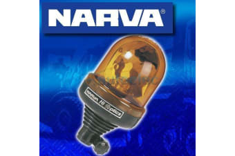 NARVA HI OPTICS PIPE MOUNT BASE ROTATING LIGHT BEACON AMBER 12V 24V VOLT 85402A