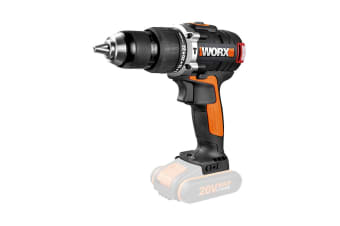 WORX 20V 13mm Brushless Hammer Drill - Skin Only (WX373.9)