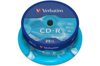 Verbatim CD-R 700MB 25Pk Spindle 52x