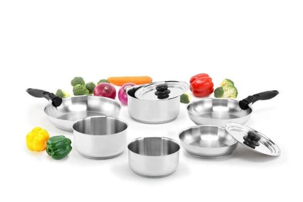 Ovela Moderno 10 Piece Stackable Stainless Steel Cookware Set