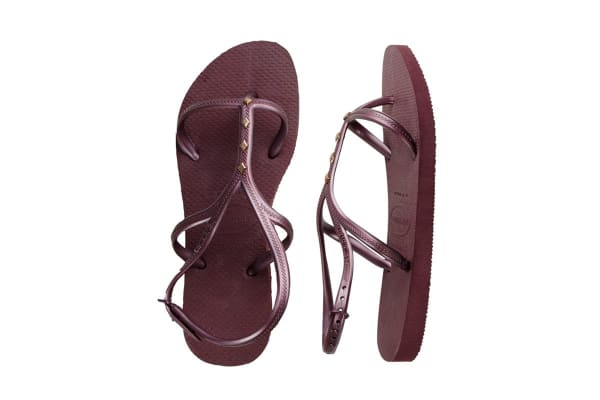 Havaianas Allure Maxi Thongs (Grape Wine, Brazil 35/36)