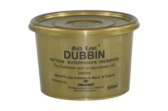 Gold Label Dubbin Brown (May Vary) (500g)