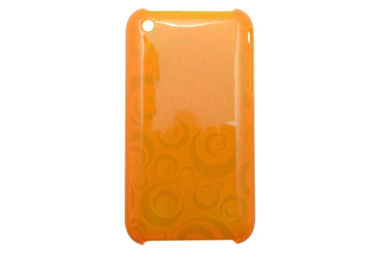"""For iPhone 3 3GS Case """"Translucent Geometrical Circles"""" Shielding Cover Orange"""