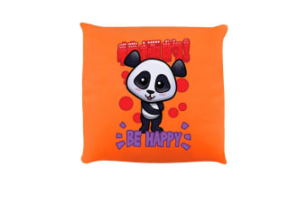 Handa Panda Be Happy Cushion (Orange)