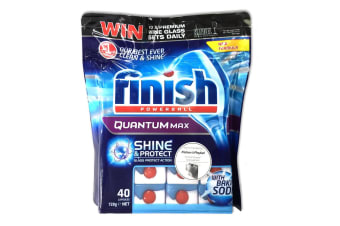 Finish Powerball 40 Tablets - Quantum Max  w/ Baking Soda