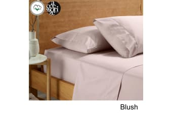 Vintage Washed Cotton Sheet Set Blush King Single