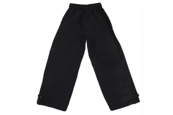 Finden & Hales Childrens Unisex Plain Sports Track Pants / Tracksuit Bottoms (Black)