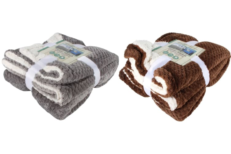 Sherpa Blanket Fleece Blanket Throw Rug Jacquard