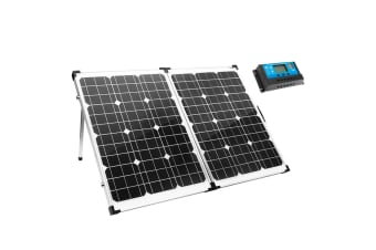 MEGAVOLT 12V 160W Folding Solar Panel Kit Caravan Boat Camping Power Mono Charging Home