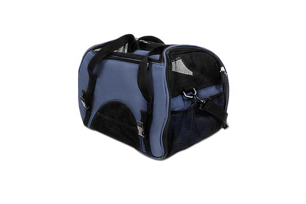 Extra Large Portable Pet Carrier (Blue)
