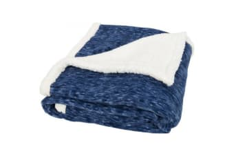 Field & Co Sam Heathered Fleece Plaid Blanket (Blue)