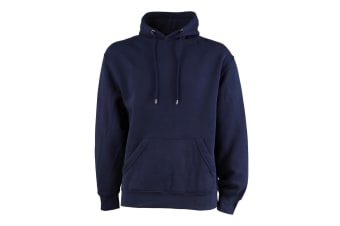 Tee Jays Mens Hooded Cotton Blend Sweatshirt (Navy Blue) (L)