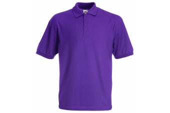 Fruit Of The Loom Childrens/Kids Unisex 65/35 Pique Polo Shirt (Pack of 2) (Purple) (12-13)