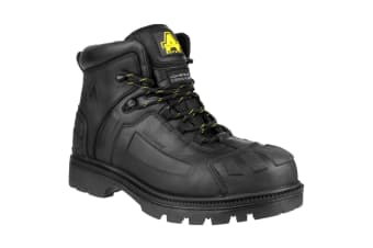 Amblers FS996 Mens Lace Up Safety Boots (Black) (9 UK)