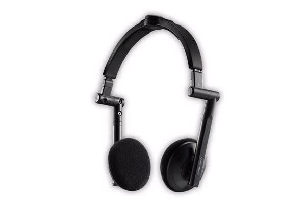 Coolermaster HS500 Black Portable Headset. Real-Time 3D Sound HDSS, Collapsible.