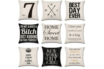 Design Funk And Cool Different Graphic Printed Throw Pillow Case 9Pcs