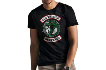 Riverdale Unisex Adults Southside Serpents Print T-Shirt (Black)