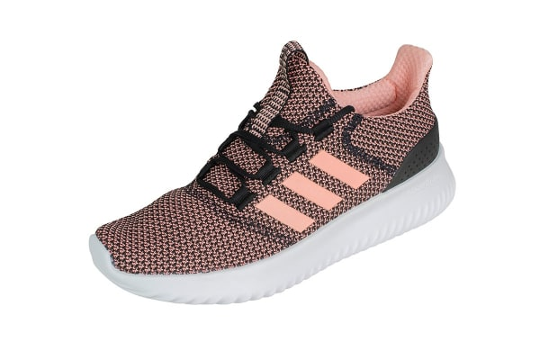 Adidas Neo Women's Cloudfoam Ultimate Shoe (Core Black/Orange/White, Size 8)
