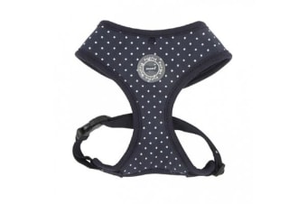 Puppia Dotty Harness Navy - Large