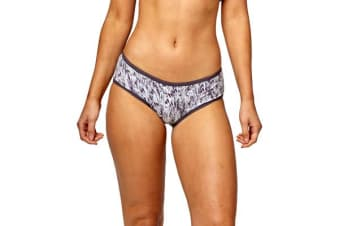 Bonds Women's Comfytails Midi Brief (Black Print, Size 14)