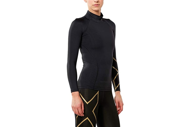 2XU Women's Alpine MCS Thermal Compression Top (Black/Gold, Size S)