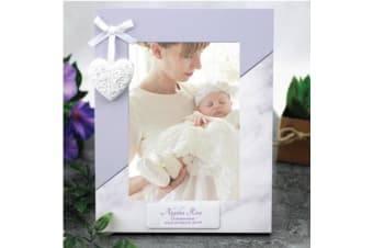 Personalised Christening Photo Frame 5x7 Heart