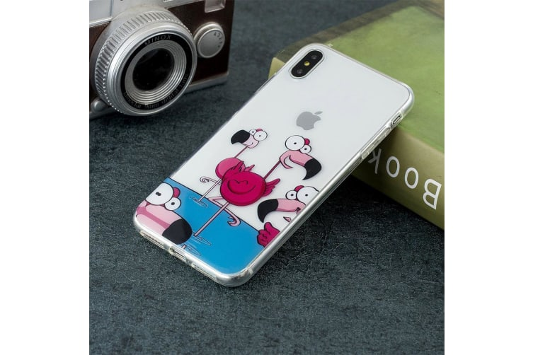For iPhone XS Max Case Flamingo TPU Protective Back Cover Scratch Resistant