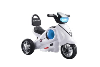 Kids Toddler 6V Ride on Toys Motorbike Remote Controlled White