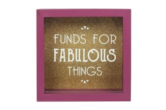 Something Different Funds For Fabulous Things Money Box (Multicoloured)