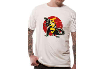 Godzilla Adults Unisex Vintage Design T-Shirt (White)