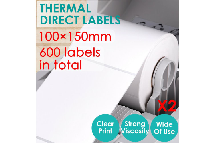 600Pcs Direct Thermal Shipping Labels for Fastway eParcel Startrack 100x150mm