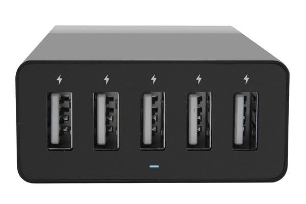 mbeat Quintary 5-port 40W USB Smart Charger (Black)