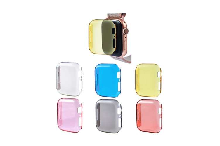 Protective Case Cover - For Apple Watch Iwatch Series 4 Thin Pc Transparent Shell Orange 40Mm