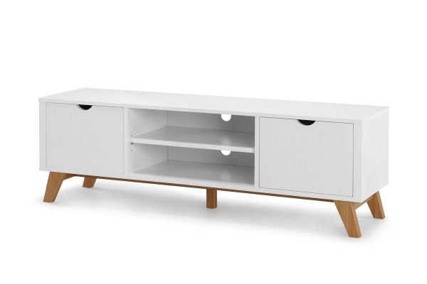 Ovela 2 Drawer TV Stand - Finse Collection (White)