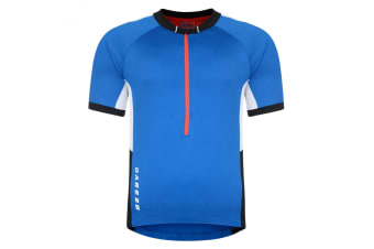 Dare 2B Mens Retribute Short Sleeve Cycle Jersey (Blue) (S)