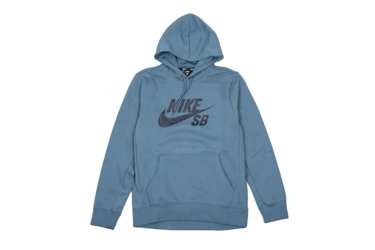 Nike SB Icon Men's Skate Hoodie (Blue, Size L)