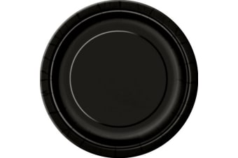 Unique Party Paper Party Plates (Pack Of 16) (Midnight Black) (One Size)