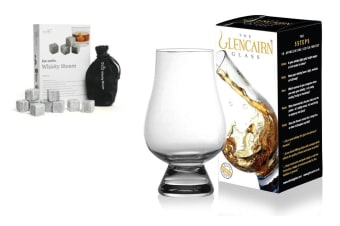 The Glencairn Whisky Glass + Stones Set