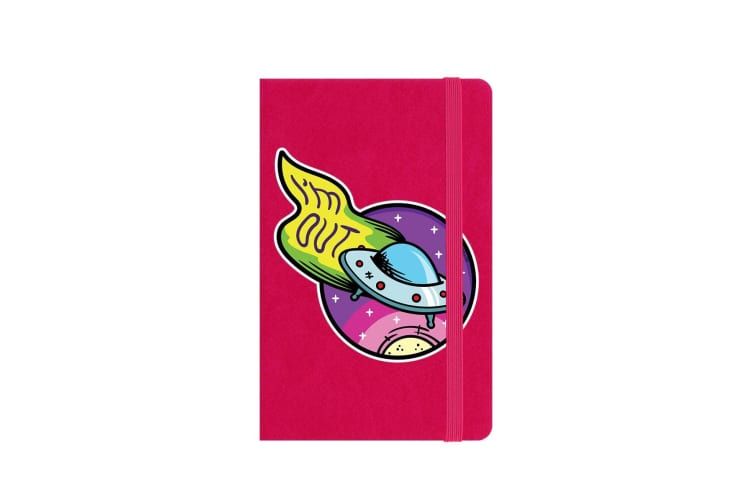 Grindstore I'm Out UFO A6 Hard Cover Notebook (Pink) (One Size)