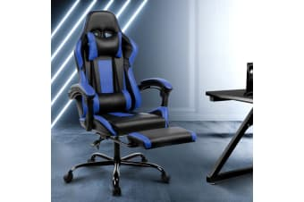 Artiss Gaming Chair Office Computer Seating Racing PU Leather Executive Racer Black BU