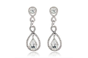 Crystal Teardrop Dangle Earrings Bridal Earring Elegant Wedding Jewelry  Crystal