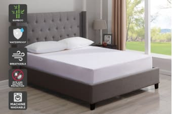 Trafalgar Waterproof Bamboo Fitted Mattress Protector (King)