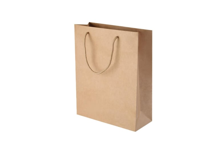 100pcs Kraft Paper Carry Bags Shopping Gift Handbags with Handles Bulk Brown