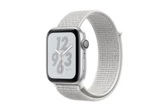 Apple Watch Nike+ Series 4 (Silver, 44mm, Summit White Nike Sport Loop, GPS Only)