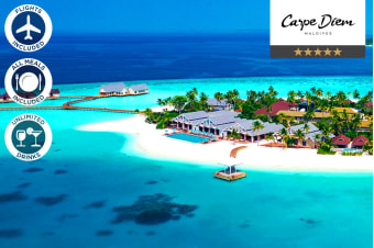 MALDIVES: 5 Nights All Inclusive at Carpe Diem Resort Including Flights for Two